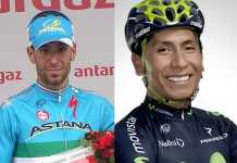 Vicenzo Níbali (ccm) - Nairo Quintana (Movistar Team)