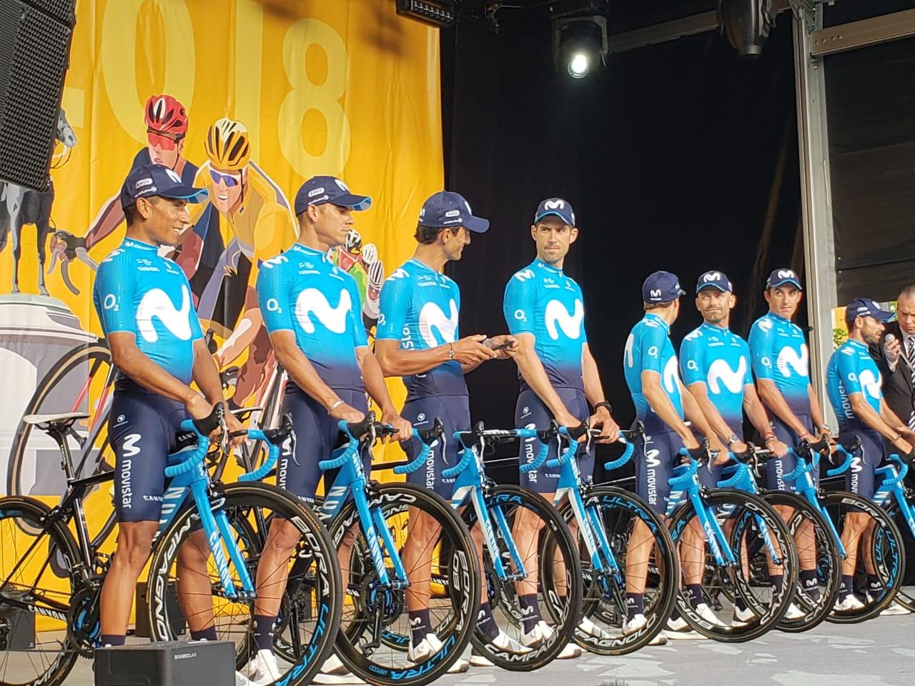 Nairo Quintana 1 Tour de Francia (ph. Movistar Prensa) Escarabajos Colombianos