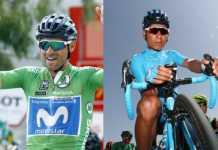 Nairo Quintana - Alejandro Valverde - Vuelta a España. (Ph. Movistar Team) - Escarabajos Colombianos