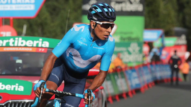 Nairo Quintana - Etapa 1 - Vuelta a España (ph. Movistar Prensa) - Escarabajos Colombianos