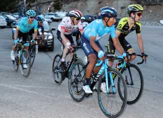 Nairo Quintana - Egan Bernal - Miguel Ángel López- Vuelta a Cataluña (Ph. PhotoGomezSport - Movistar Team) - Escarabajos Colombianos