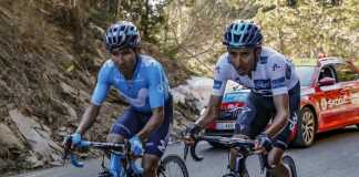 Nairo Quintana (Movistar Team) - Egan Bernal (Movistar Team) Etapa 6 París Niza - (ph. BettiniPhoto-Movistar Team) - EscarabajosColombianos