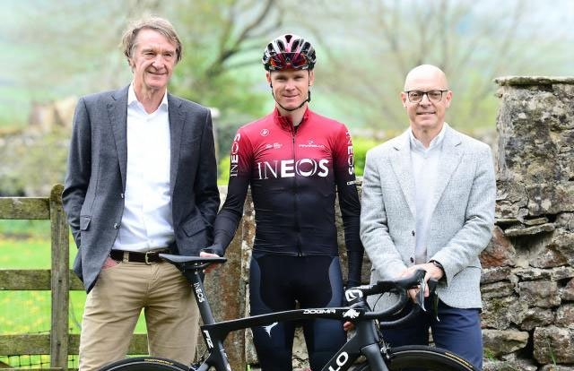 Jim Ratcliffe - Chris Froome - Dave Brailsford - Team Ineos