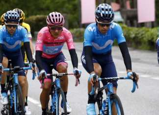Mikel Landa - Giro de Italia 2019 etapa 15 - Ph. Movistar Team tw - Escarabajos Colombianos