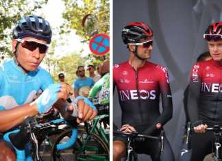 Nairo Quintana - Chris Froome - Ph. Movistar Team - Chris Froome - Escarabajos Colombianos