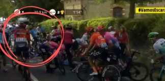 Caida Nairo Quintana Tour de Francia Etapa 11