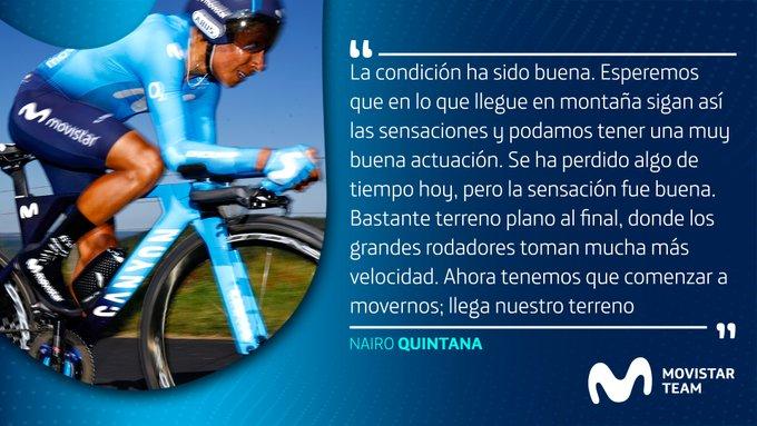 Nairo Quintana etapa 14 del Tour de Francia