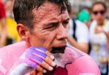 clasificación general colombianos Tour de Francia etapa 14