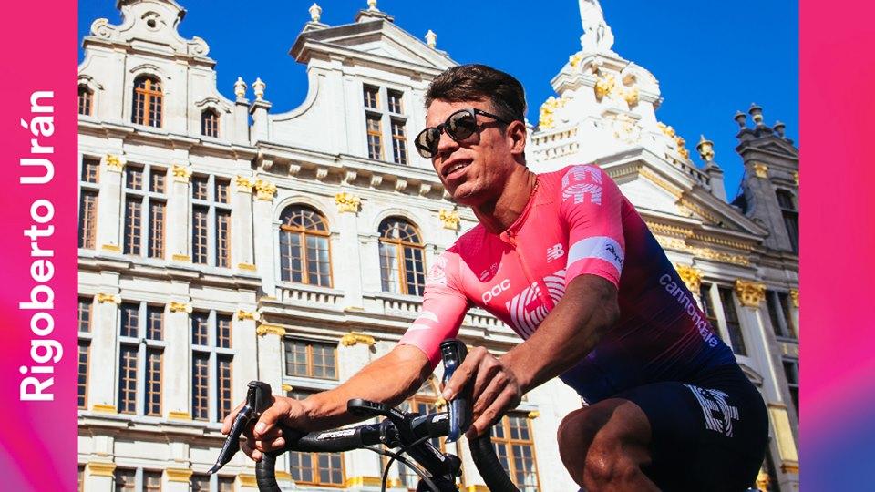 Rigoberto Urán caída Vuelta a España 2019