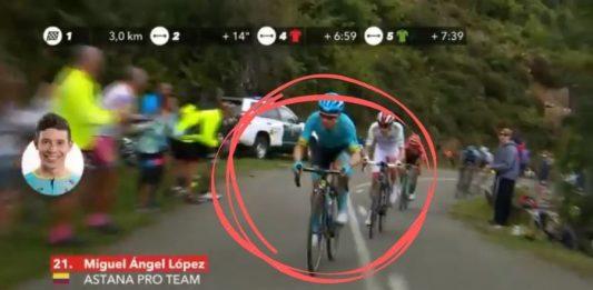 Ataque Miguel Ángel López Vuelta a España 2019