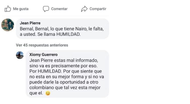 Xiomy Guerrero novia Egan Bernal