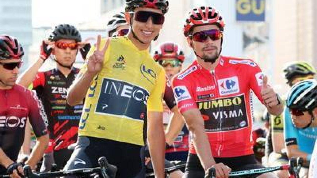 ✓ Egan Bernal vs Primoz Roglic round 1 en el Tour de l'Ain 2020