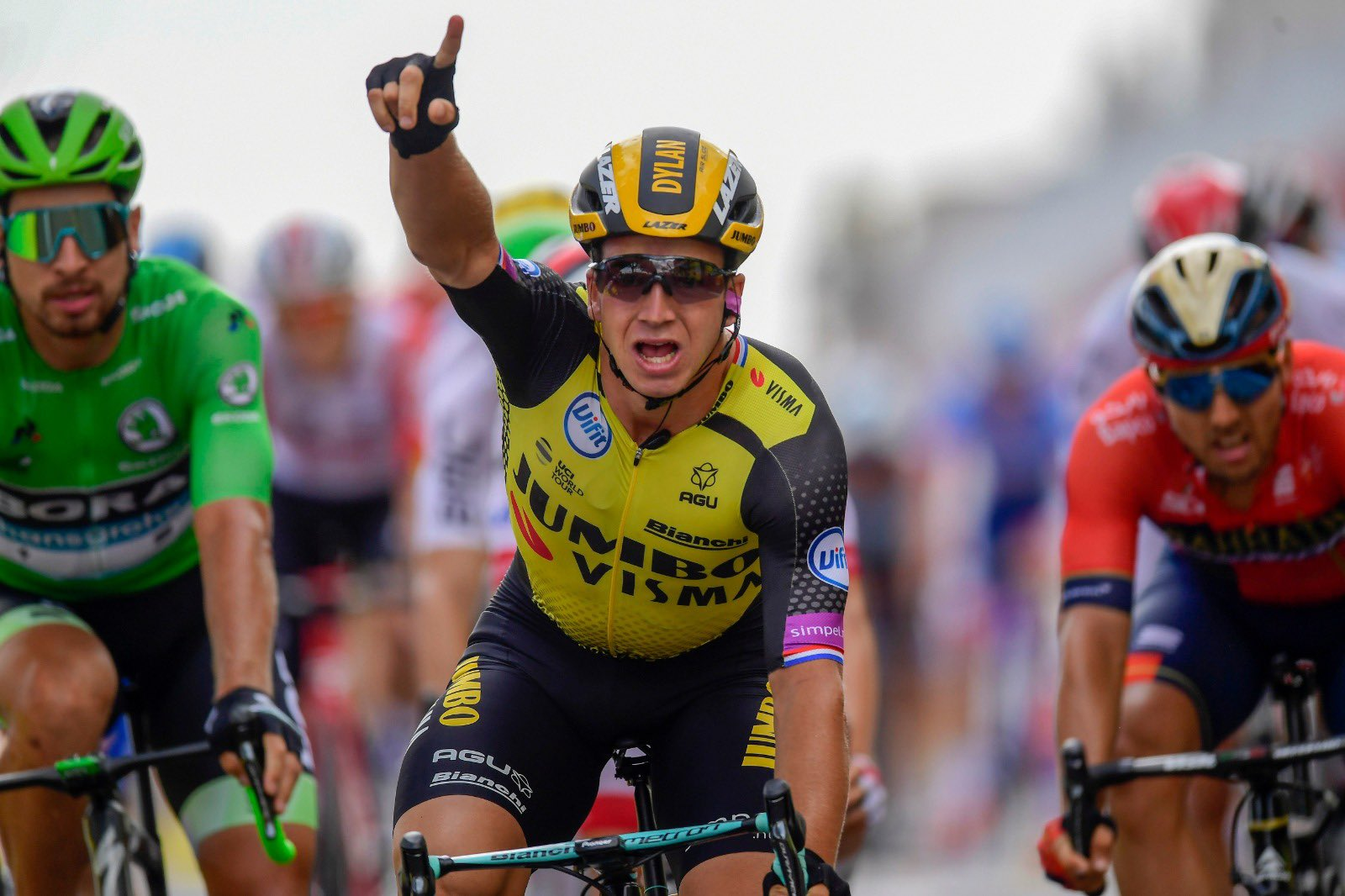 Dylan Groenewegen UCI Jumbo -ph. Jumbo Visma - www.ciclismocolombiano.com