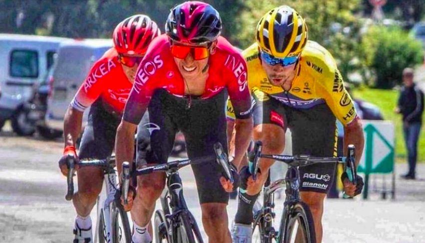Egan, Nairo y Roglic Tour de l'Ain