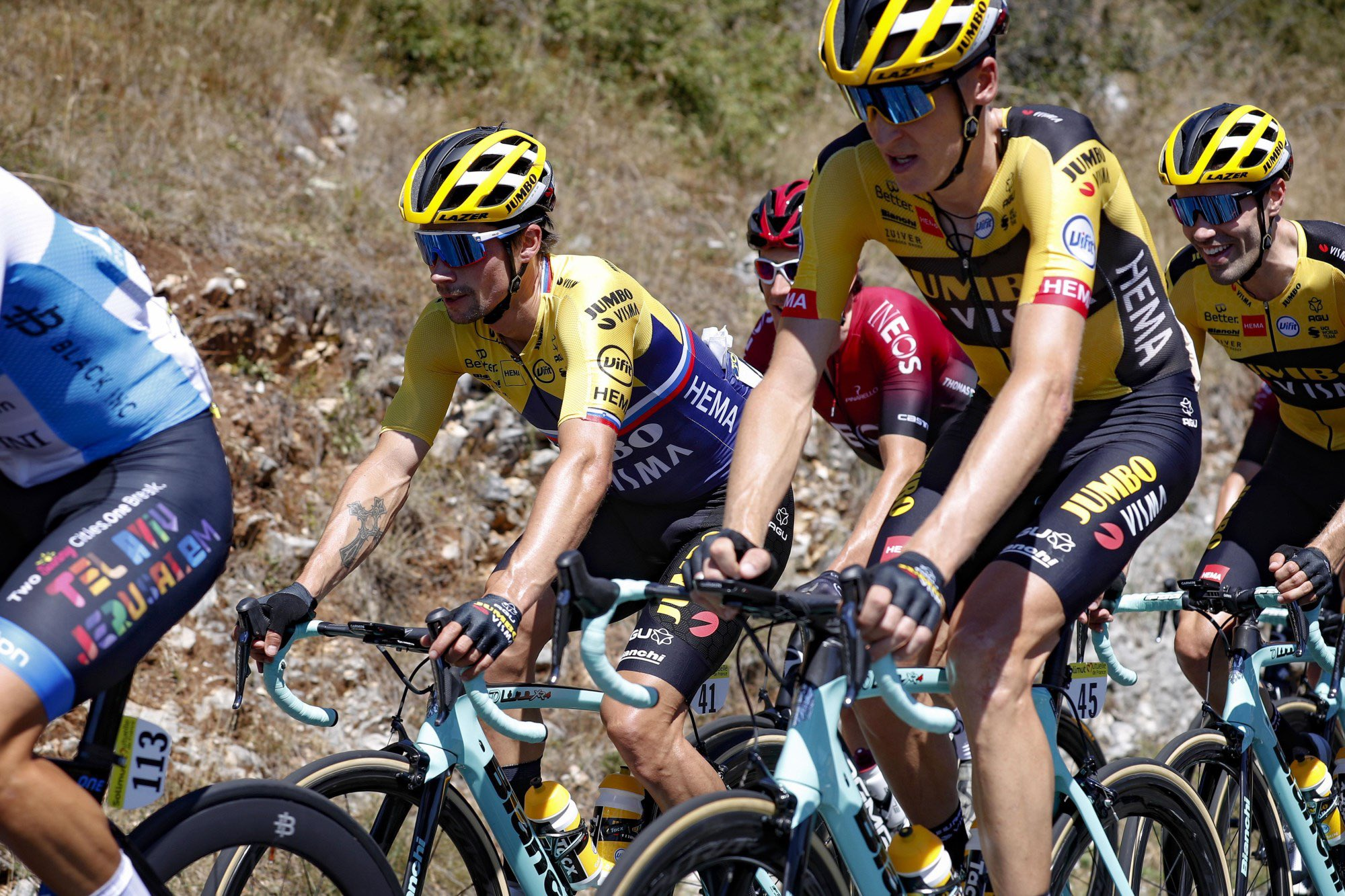 Jumbo Visma Team Ineos etapa 1 Tour l'Ain 2020- ph. Jumbo Visma - www.ciclismocolombiano.com