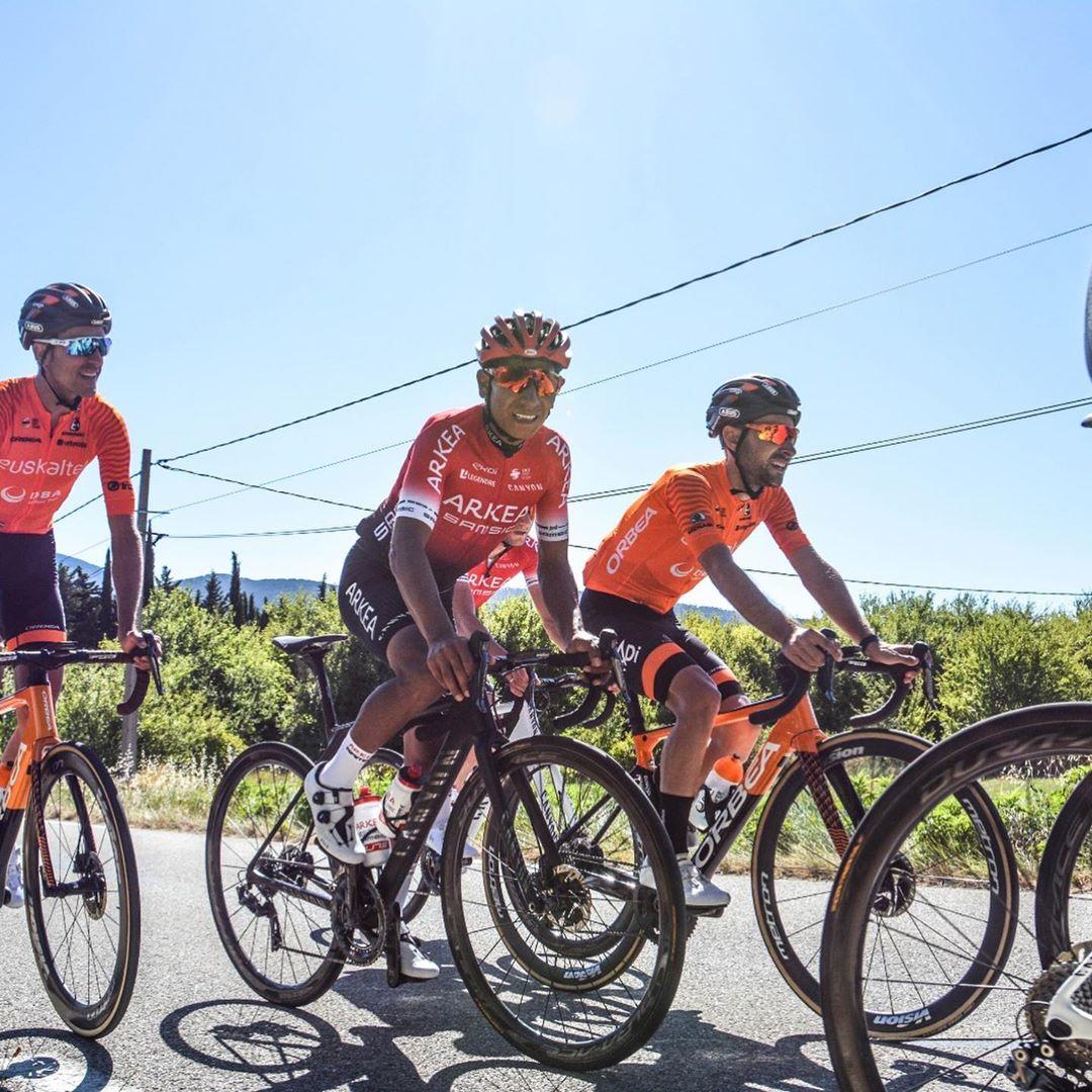 Nairo Quintana Mont Ventous Tour l'Ain - ph. NairoQuinco - www.ciclismocolombiano.com