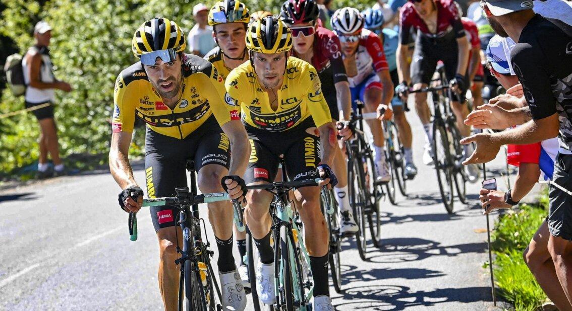 Primoz Roglic se retira 2020 Critérium - ph. Jumbo Visma - www.ciclismocolombiano.com