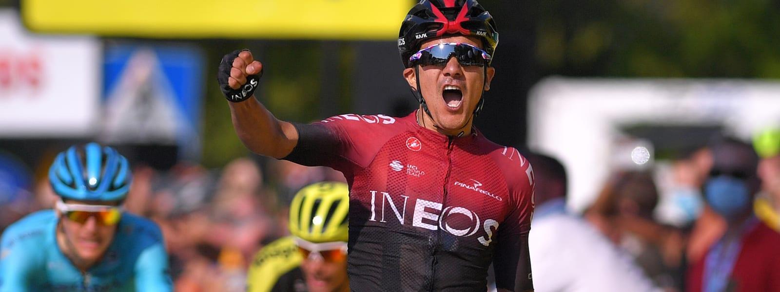 Richard Carapaz etapa 3 Tour Polonia 2020 - ph. Team Ineos - www.ciclismocolombiano.com
