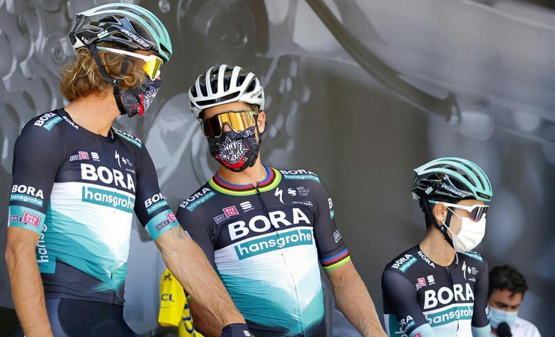 Bora lesionado Tour 2020 Ph. instagram Bora hansgrohe Sagan Tour de Francia 2020