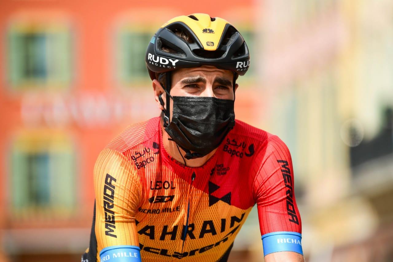 Mikel pierde un importante gregario en la etapa 1 del Tour de Francia 2020- Ph: Bahrain McLaren-www.ciclismocolombiano.com