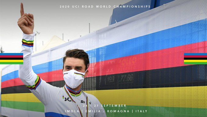Julian Alaphilippe ganadores monto Mundial Imola 2020 - ph- UCI Cycling - www.ciclismocolombiano.com