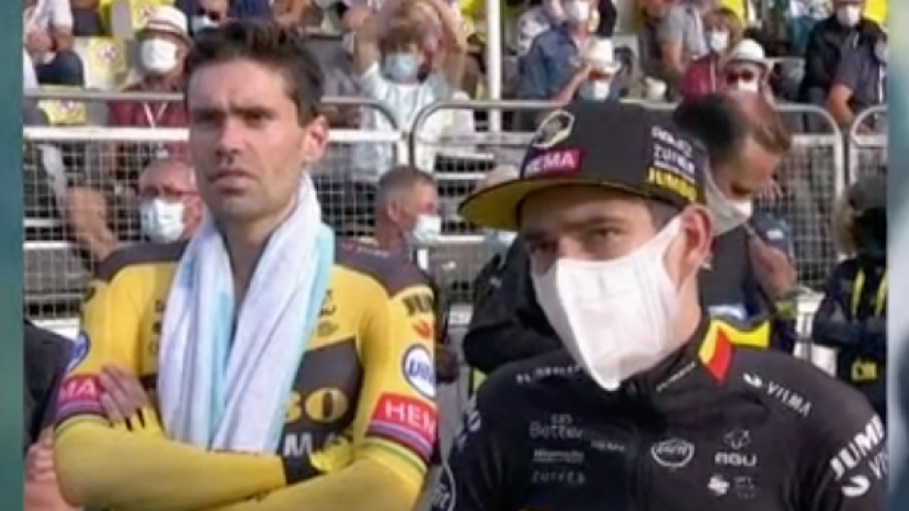 Tour de Francia 2020, captan incrédulo gesto de Dumoulin tras exhibición de  Pogacar