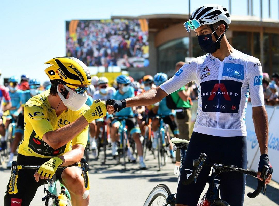 Egan Bernal y Primoz Roglic - Ph. IG Egan Bernal - www.ciclismocolombiano.com