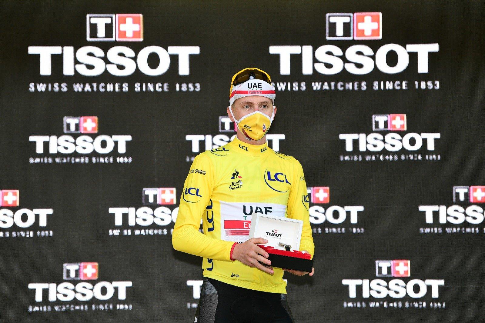 Gesto roglic Pogacar Tour de Francia 2020 ph Tw Tour de Francia col Matxín