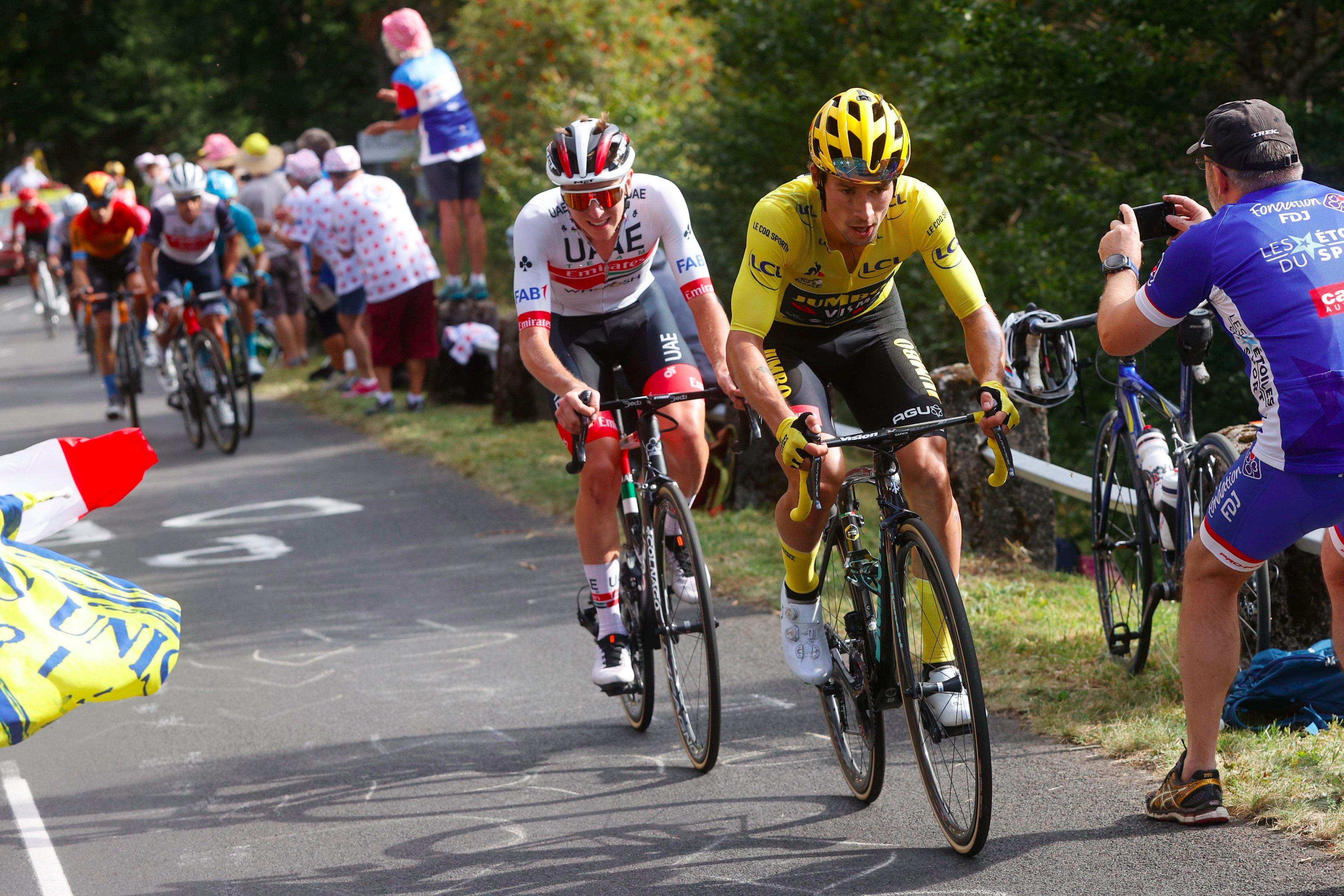 Tadej Pogacar y Primoz Roglic Tour de Francia 2020 Ph Twitter Jumbo Visma
