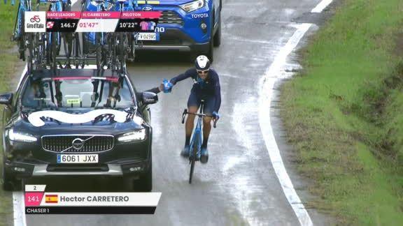 Ciclista Movistar trampa Giro de Italia 2020