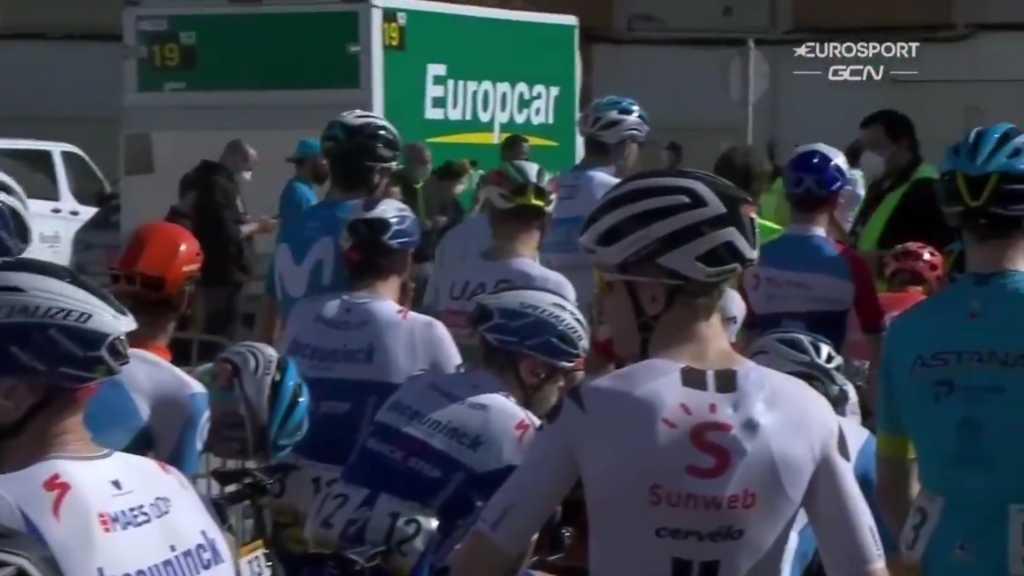 protesta Jumbo Visma Vuelta a España 2020