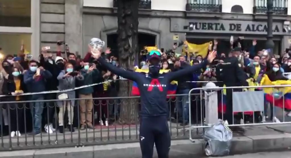 Richard Carapaz Ecuador recibimiento Vuelta a España 2020