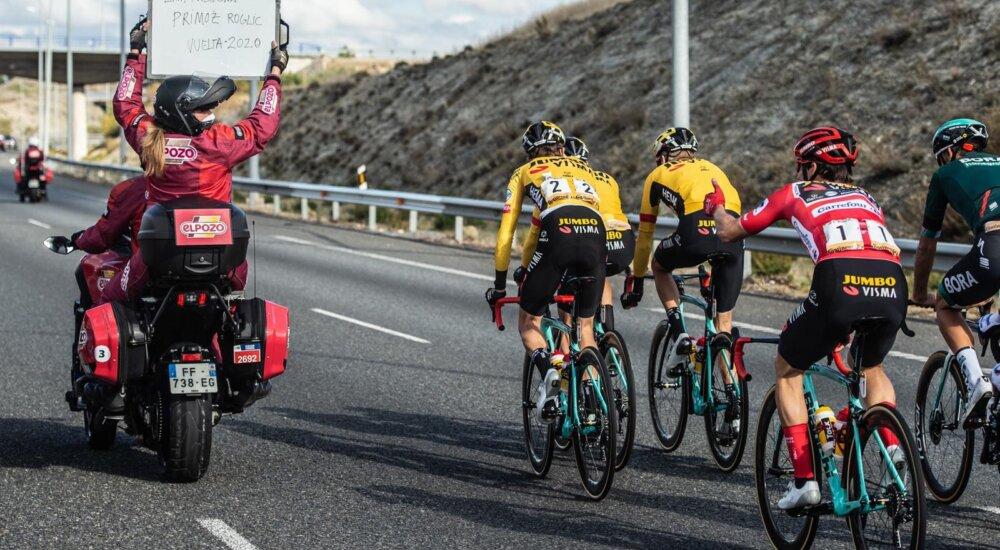 Carapaz desespero Jumbo Visma Vuelta 2020