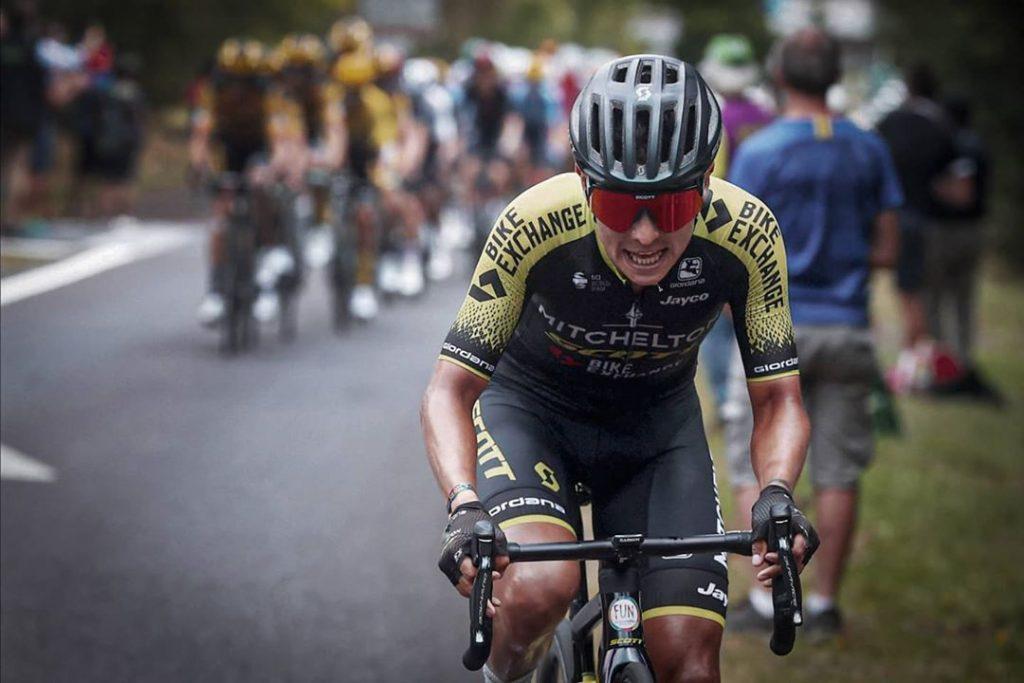 Ciclista colombiano Giro de Italia momento