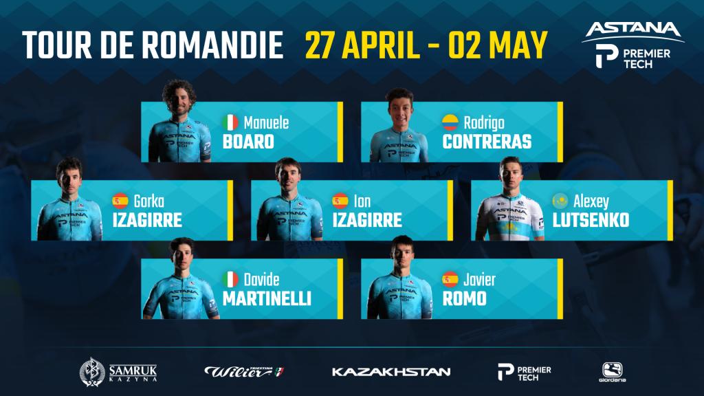Rodrigo Contreras Astana Premier Tech Tour de Romandía 2021