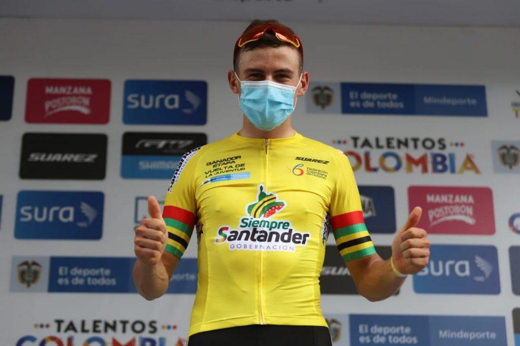 Germán Gómez emotivo momento Vuelta Juventud 2021