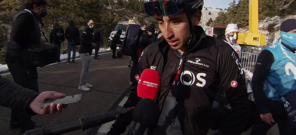 Egan Bernal no iría Tour Alpes 2021 medios internacionales