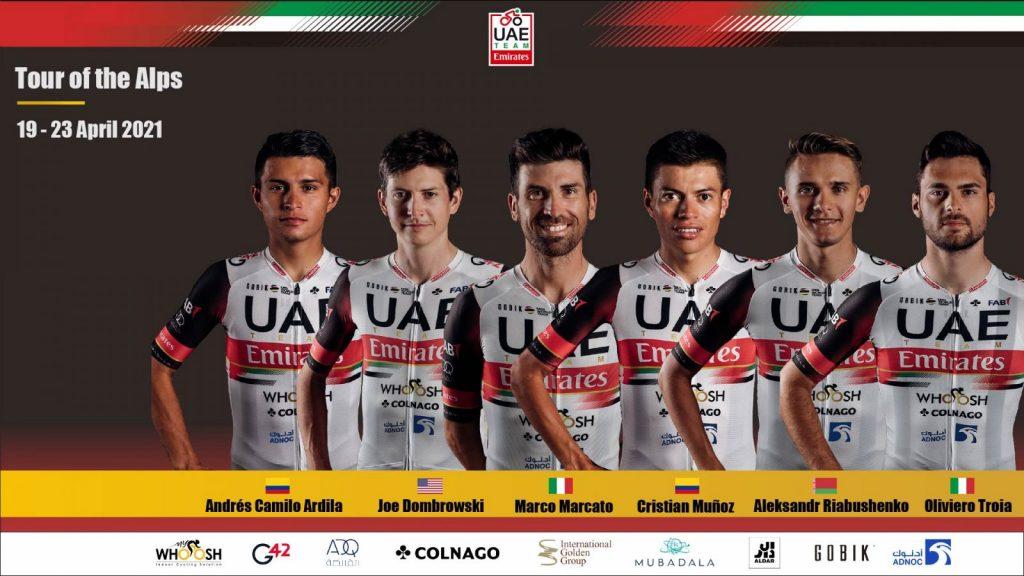 UAE Team Emirates Tour de los Alpes 2021