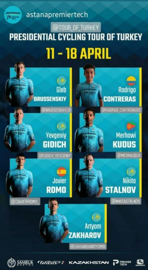 ciclista colombiano Turquía 2021