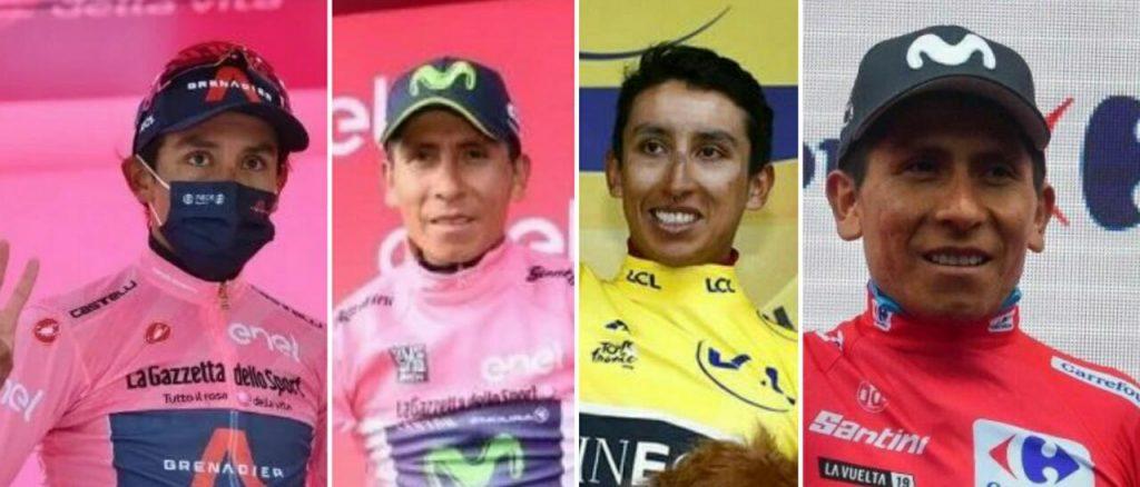 20 podios ciclismo colombiano grandes vueltas Egan Giro