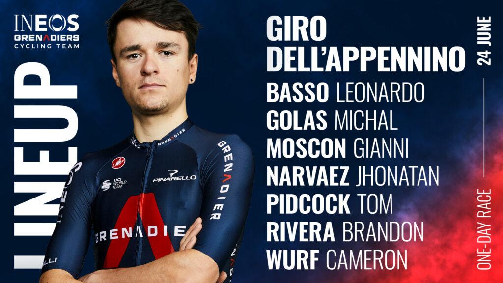 Ineos Grenadiers y la escuadra con la que correrá el Giro Dell'Apennino 2021 ok