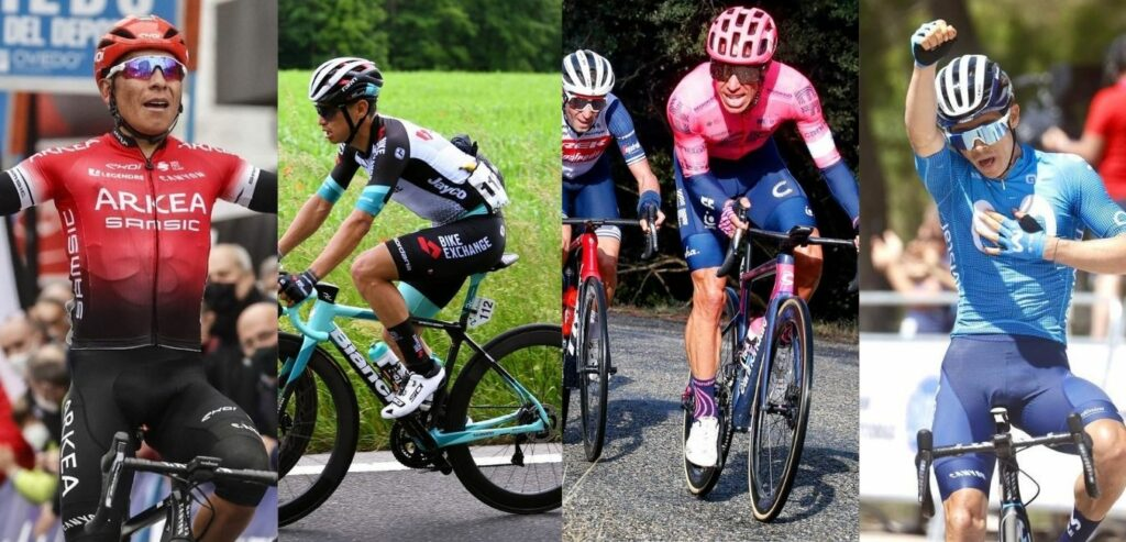 Nairo Quintana, Esteban Chaves, Rigoberto Urán y Miguel Ángel López serán cuatro de los ciclistas colombianos que acudirán al Tour de Francia 2021 con un segundo líder a bordo