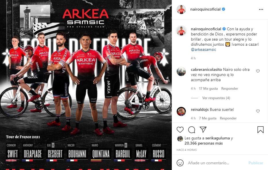 Nairo Quintana sobre el Tour de Francia 2021
