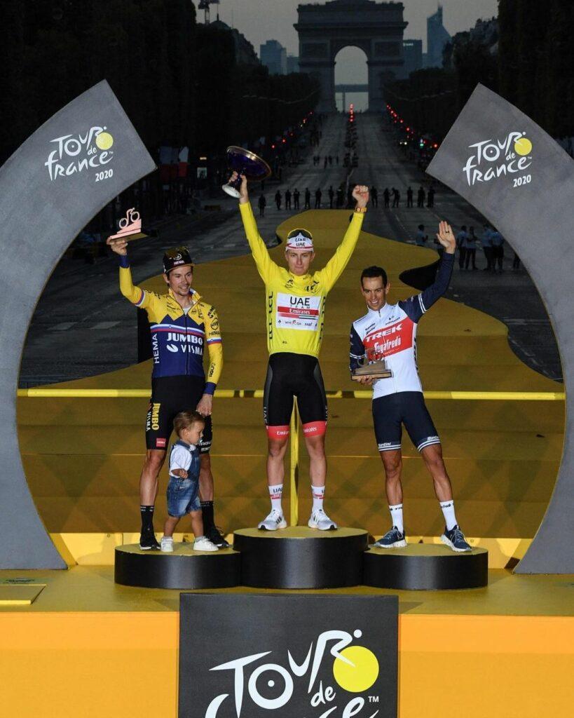 UAE Team Emirates, Jumbo Visma y Trek Segafredo fueron los equipos que estuvieron en el podio del Tour de Francia del año pasado
