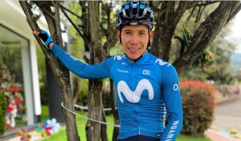 Miguel López reacciona última etapa Critérium Dauphiné 2021