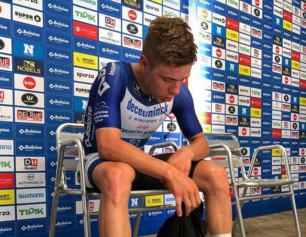 Remco imagen victoria etapa 2 Tour Bélgica 2021