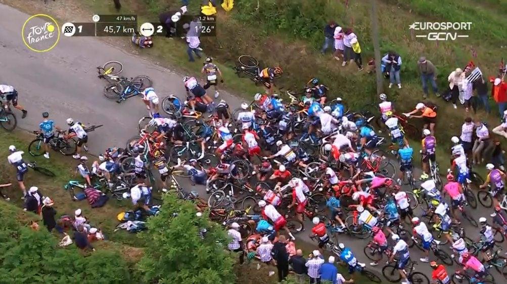 Roglic López Martín caída Tour de Francia 2021