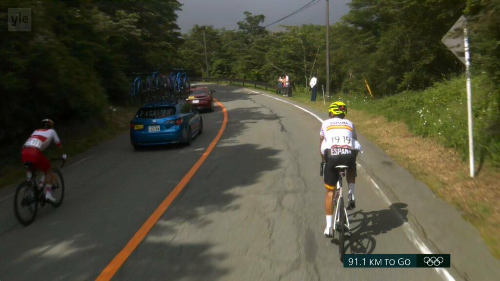 Alejandro Valverde explota en Tokio 2020