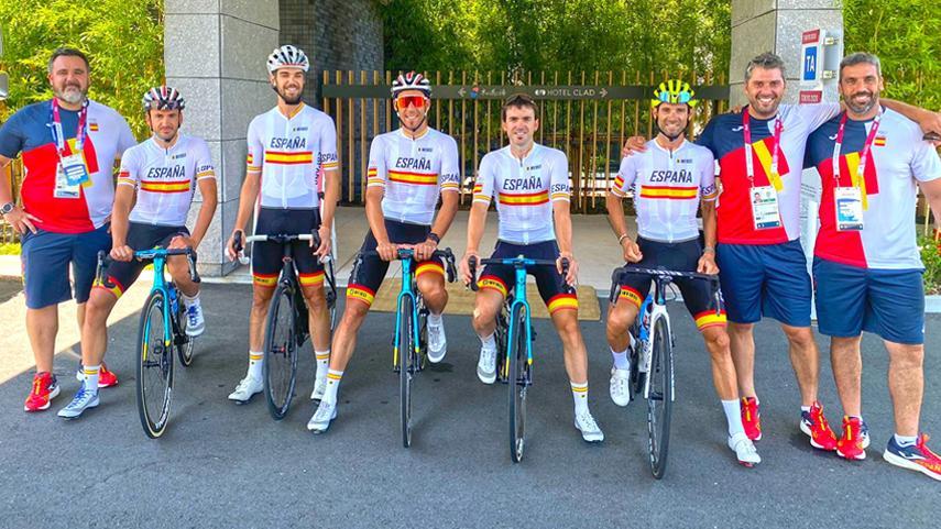 comitiva de ciclismo español