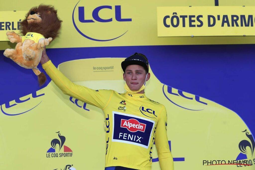 Mathieu van der Poel durante el Tour de Francia 2021